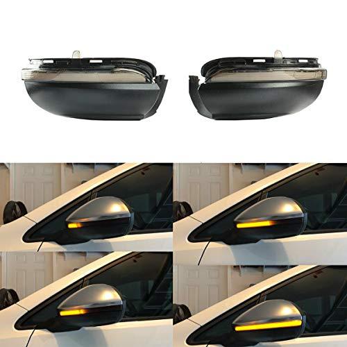 Ein Paar Spiegelblinker Auto Dynamische LED Blinkerleuchten für Golf MK6 GTI 6 R20 MKVI Touran
