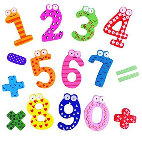 15pcs adesivi magnetici in legno carino giocattolo matematica imparare numeri per bambini infantili precoce educazione giocattoli per bambini bobury