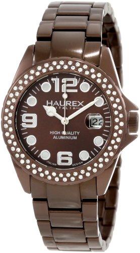 Haurex Italy XK374DMM - Reloj para mujeres, correa de acero inoxidable color marrón