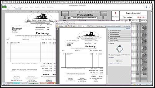 Rechnungsprogramm mit Lagerhaltung, Faktura Software, Rechnunssoftware, Produktpalette, Kundendatenbank, Umsatzliste, Lieferscheine, Mahnwesen, PDF Versand auch für Kleinunternehmer