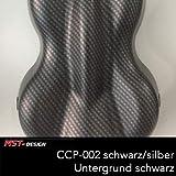 MST-Design Wassertransferdruck Folie I CCP-002 Premium Serie I Carbon mit 3D Effekt I 1 Meter x 50 cm I Lackieren Lackierzubehör I VEREDELUNG I WTD I WTP