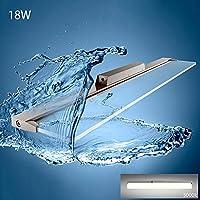 Spiegelleuchte,KJLARS LED Spiegellampe 18W Acryl durchsichtig Schminkleuchte Badlampe Unterbaulampe Badezimmerleuchte Bad Wandlampe Wandbeleuchtung(120cm-5000K)
