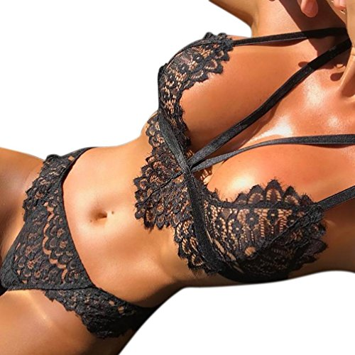 #HCFKJ 2017 Mode Damen Dessous Korsett Spitze Blumen Push-Up Top BH + Briefs Unterwäsche Set#
