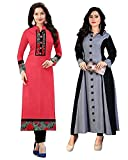 #10: Pramukh Fashion New Semistichead pack of 2 kurtis combo