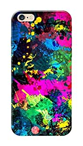 Apple Iphone 6sPlus Black Hard Printed Case Cover by Hachi - Colors Design
