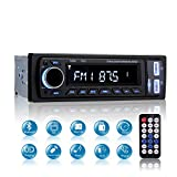 Autoradio Bluetooth Car Stereo MP3, Mekuula Autoradio 1 DIN 4x60W LCD Stereo Auto Radio Station Lettore MP3 Player Supporta FM / USB / Micro SD / AUX / Bluetooth / Telecomando