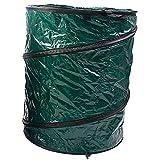 GUOWEI Gartenabfallsäcke Für Blätter Wiederverwendbar Schwerlast, 2 Materialien (Farbe : Dunkelgrün, größe : 46x55cm)
