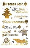 Avery Zweckform 52720 Weihnachtssticker Schriftzüge (geprägte Folie) 20 Aufkleber