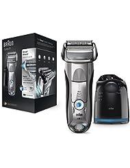 Braun Series 7 7899cc Rasoirs Électriques Homme Barbe Wet&Dry et Système Clean&Charge - Argent Premium