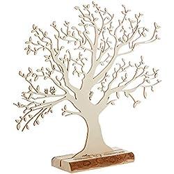 Geldbaum aus Holz mit Gravur – Personalisiert mit [NAMEN] – Motiv Herz und Amors Pfeil – Foto-Baum – Geld-Geschenke Verpackung zur Hochzeit – 29 cm hoch – Groß