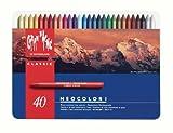 Caran d´Ache 7000.340 Classic Neocolor Kreiden Sortiment mit 40 Farben