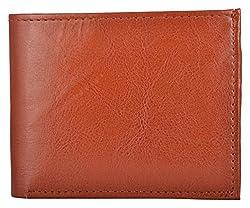 Exotique Mens Tan Faux Leather Wallet (WM0015TN)