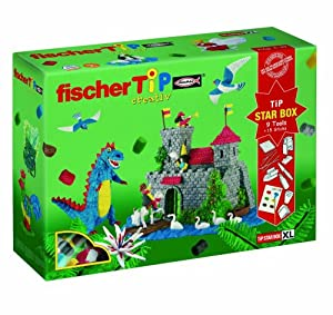 Fischer TIP 40996 Star box -Caja XL de construcción creativa con colores, papeles y accesorios Importado de Alemania