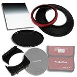 Fotodiox WonderPana 66 Wesentliche .9 WK Kit mit Kern 145 mm Filterholder/6.6 Halterung Upgrade/6.5x8 0.9 Weich Kante Filter/145 mm Graufilter ND16 (4-Stop) Filter/Objektivkappe für Sigma 14 mm f/2.8 EX HSM RF Asphärisch Ultra-Weit Winkel Objektiv (Full-Frame 35 mm)