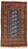 Morgenland Afghan Pakistan BUCHARA Teppich 122 x 71 cm Blau Handgeknüpft