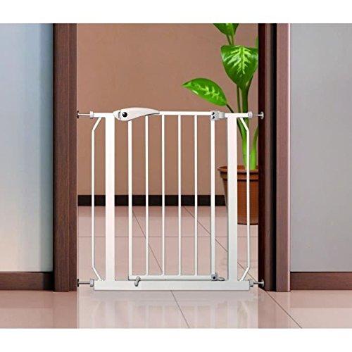 Trixie Cancelletto di Sicurezza per Cani e non, da applicare su porta - Altezza 76cm - Larghezza Porta Min 75cm Max 85cm - non necessita di forare porte e muri