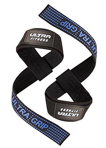 Ultra Fitness® Zughilfe für Gewichthebe-Training, 55,9cm, Gel-gepolstert, Rot / Blau / Rosa /...