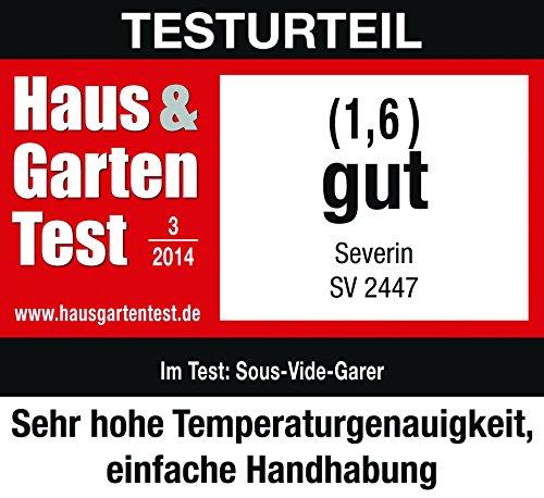 Severin SV 2447 Sous-Vide Garer, 6 L, 550 W, edelstahl gebürstet, schwarz - 7