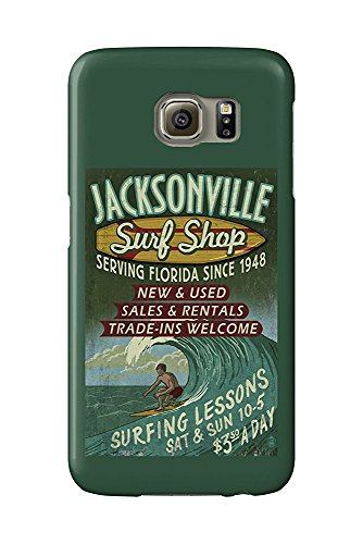 Jacksonville, Florida - Surf Shop Vintage Sign (Galaxy S6 Cell Phone Case, Slim Barely There)