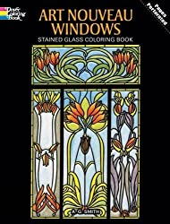 Art Nouveau Windows Stained Glass Coloring Book (Dover Design Stained Glass Coloring Book) by A. G. Smith (1993-09-01)
