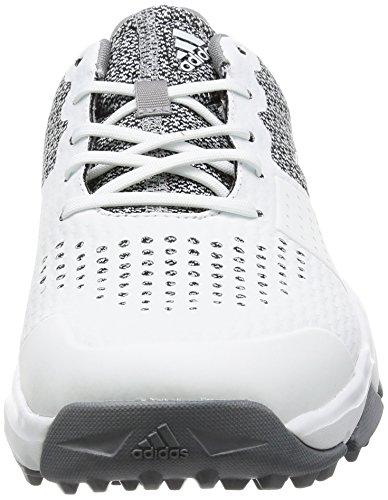 Adidas Adipower Sport Boost 3 Chaussures De Golf, Hommes Blanc / Argent / Gris