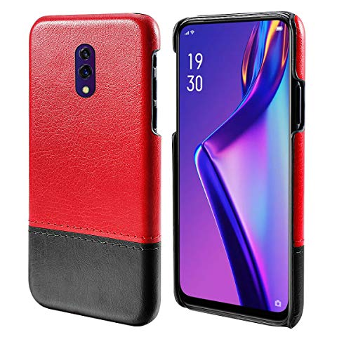 Obamono Card Holder Case Fit for Oppo k3, Oppo k3 Pouch Phone Case Wallet Case Slim Folio Leather Case Cover Shockproof Case with Card Slot, Durable Protective Case for Oppo k3 (Red-Black) -