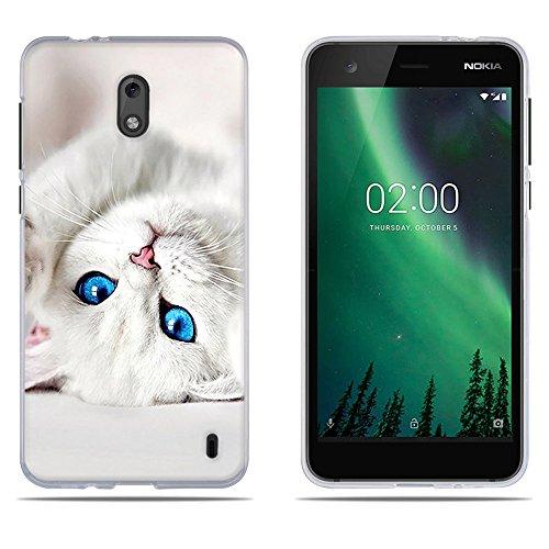 "DIKAS Cover for Nokia 2, Carina 3D Rilievo UltraSlim TPU Skin Cover Protettiva Shell Custodia per Nokia 2 (5.0"")- PIC: 07"