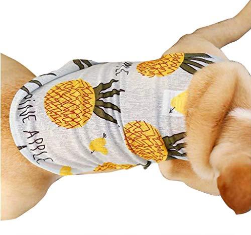 Hund T-Shirt Weste Kostüm, Hawkimin Atmungsaktive Gedruckt Tanktops Haustier Katze Niedliches Haustierpullover Hundebekleidung Hundeshirts für Große, Mittelgroße, Kleine - Niedliche Kostüm Für Chihuahuas