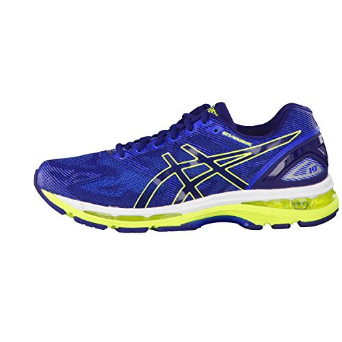 Asics Gel-Nimbus 19, Chaussures de Course Homme Bleu (Indigo Blue/safety Yellow/electric Blue)