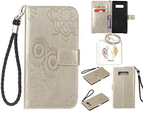 """Preisvergleich Produktbild für Samsung Galaxy Note 8 PU Leder Silikon Schutzhülle Handy case Book Style Portemonnaie Design für Samsung Galaxy Note 8 (5,7"""") + Schlüsselanhänger ( ESZ (1)"""