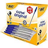 BIC Kugelschreiber Cristal Value Pack / 100 Kulis in Blau / Strichstärke 0,4 mm / Dokumentenecht