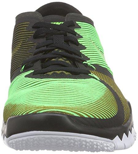 Nike Free Trainer 3.0 V4, Chaussures de Sport en Plein Air Homme noir / Vert / Blanc (Black / Vltg Green-Mlt Grn-Blanc)