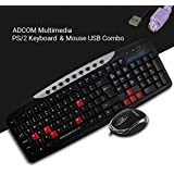 Adcom Combo AM2525 Keyboard PS/2 & USB Mouse (Only For Computers/Desktop Connectivity)