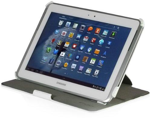 StilGut UltraSlim Case V2, Tasche mit Stand- & Präsentationsfunktion für Samsung Galaxy Note 10.1 (N8000), weiß