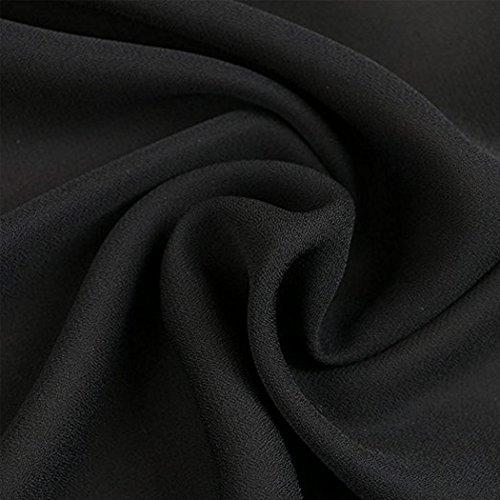 SiDiOU Group Frauen V-Ausschnitt lose übergroßen Strand Bikini Cover Ups Style 4-Schwarz