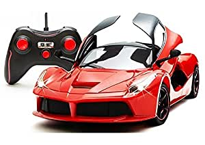 Webby Remote Controlled Super Car with Opening Doors, Red