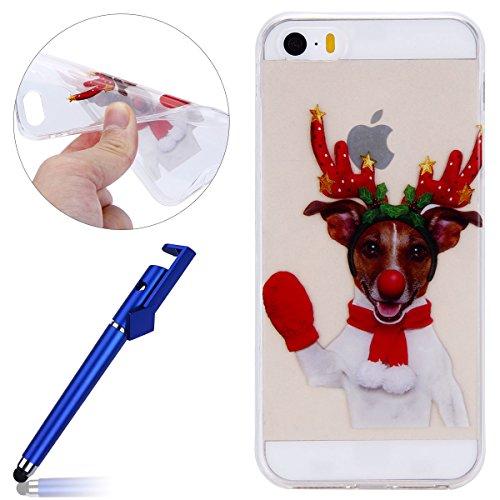 Immagini Di Natale Per Iphone 5.Cover Iphone 5s Custodia Iphone Se Morechioce Moda Painting