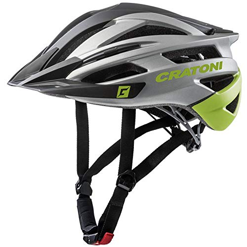 Cratoni Mountainbike Helm Agravic, Black-Anthracite-Lime Matt, Gr. L/XL (58-62 cm)