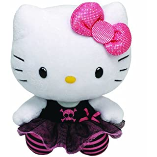 TY 90146 - Plüschtier Hello Kitty Large, Punk (28 cm)