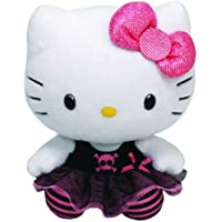 Hello Kitty Peluche punk, 28 cm, color negro (TY 90146TY)