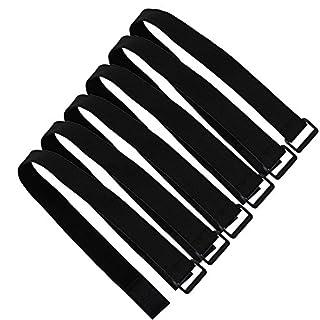 Scott Edward Allzweck Haken und Klettverschluss Straps/Sicherung Straps, 6Stück verpackt, wiederverwendbar und verstellbar, 19.7 inch (50cm), 30