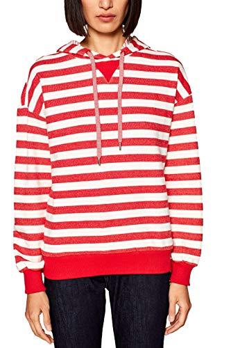 edc by ESPRIT Damen 019CC1J002 Sweatshirt, per Pack Rot (Dark RED 610), X-Large (Herstellergröße: XL)