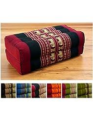 Festes Stützkissen für Yoga (Asanas) der Marke Asia Wohnstudio, Blockkissen bzw. Yogakissen als Hilfe, Würfel aus Kapok