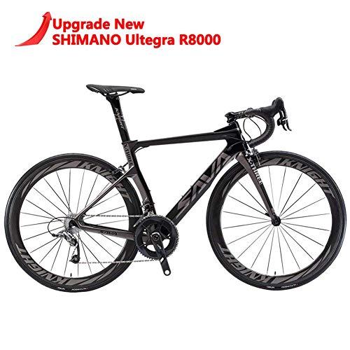 SAVADECK Phantom 2.0 700C Bicicleta de Carretera de Fibra de Carbono Shimano Ultegra R8000 22-Velocidad...