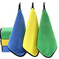 Microfiber Cleaning Cloth 800 GSM, Extra Thick Microfiber Towel Absorbent Dust Cloths Lint Free Cloth for Car Kitchen Window 45x38cm 3Pack