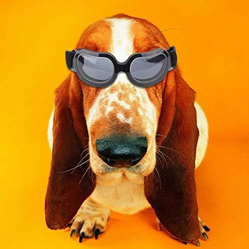 KOBWA Kleine Hund Sonnenbrillen, Mode Pet/Hund Katze Wasserdicht Winddicht UV Schutzbrille mit Verstellbaren Band für Welpen Doggy Cat - Erhältlich in Vier Farben