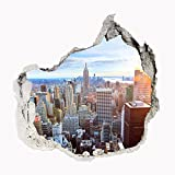 Wandbild Sticker 3D civil Life Foto Tapete Wandtattoo ca. 125x100 cm #1509 (New York Skylines)