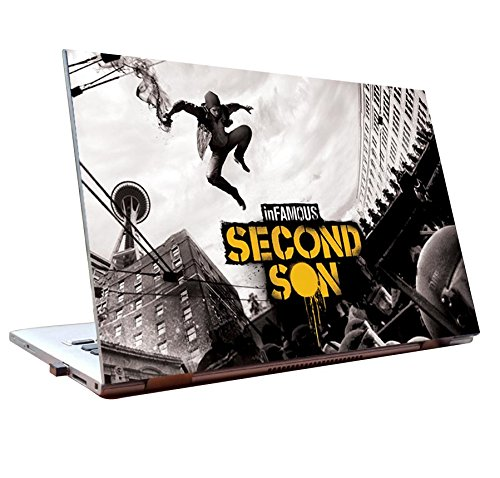 Tamatina Laptop skins 15.6 inch - Infamous second Son - Gaming Skin - HD Quality - Dell-Lenovo-HP-Acer  available at amazon for Rs.198