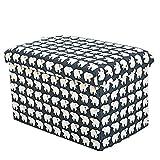 Hksfnsj Sedia con ripiano Sgabello Imbottito Luminoso Poggiapiedi Multifunzione con Rivestimento sfoderabile (Colore : Polar Bear, Dimensione : 31 * 31 * 31cm)