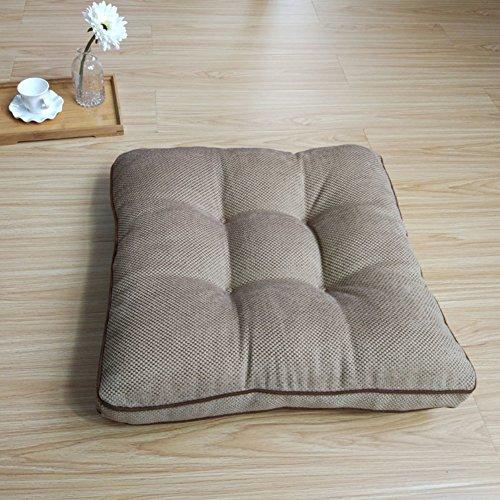 WJT@YX Yoga Meditation Dick Sitzkissen, Tatami Sitzpolster Stuhl-Pads Auto-Kissen Bodenkissen Sofa dämpfung Bay-Fenster Rückenlehne Pp-Baumwolle gefüllt-Chenille 50x50x10cm(20x20x4inch) -